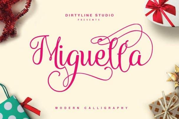 Miguella Script шрифт скачать бесплатно