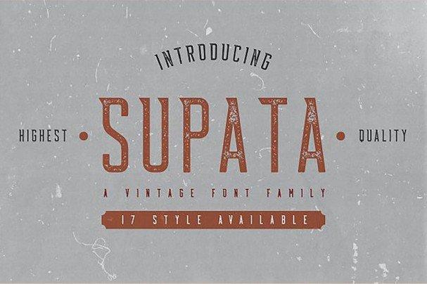 Supata шрифт скачать бесплатно