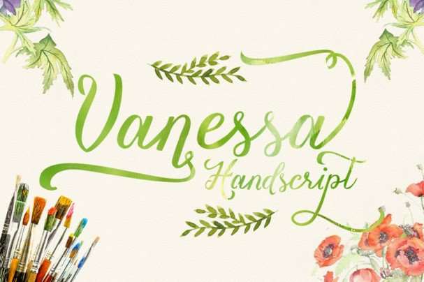 Vanessa handscript шрифт скачать бесплатно