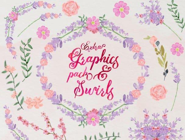Mira & graphic watercolor & swirls шрифт скачать бесплатно