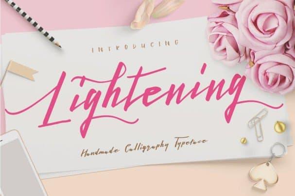 Lightening Script -   Duo шрифт скачать бесплатно