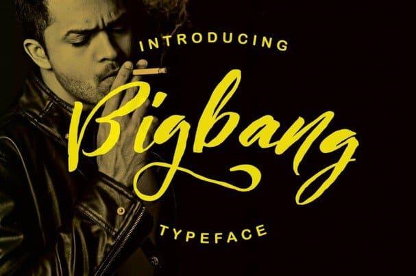 Bigbang Typeface шрифт скачать бесплатно