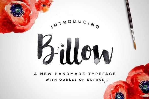 Billow Font шрифт скачать бесплатно