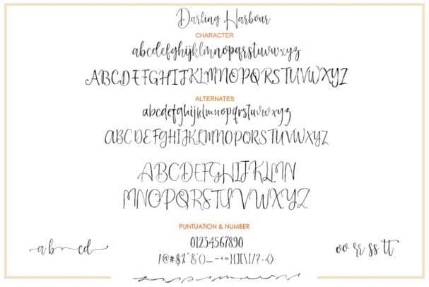 Darling Harbour Brush шрифт скачать бесплатно