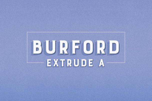 Burford Extrude A шрифт скачать бесплатно