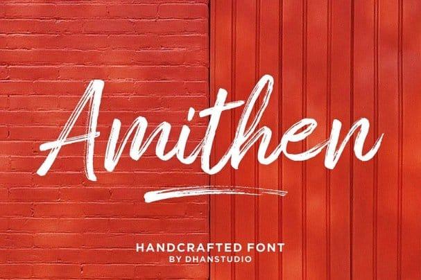 Amithen Brush   шрифт скачать бесплатно