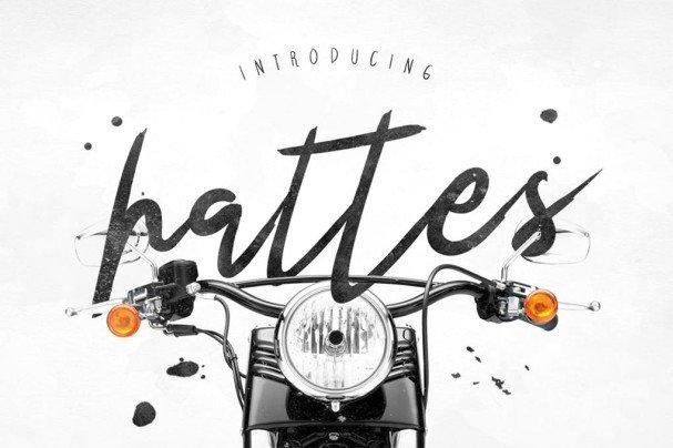 Hattes Typeface шрифт скачать бесплатно