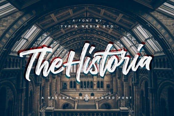 The Historia шрифт скачать бесплатно