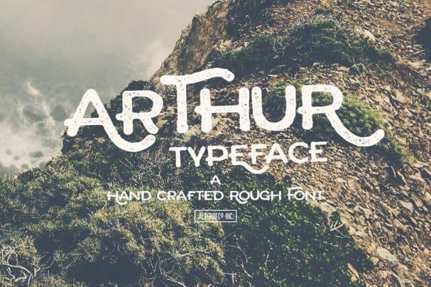Arthur Typeface шрифт скачать бесплатно