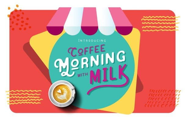 Coffee Morning with Milk шрифт скачать бесплатно