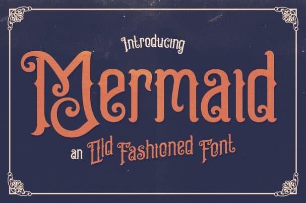 Mermaid Typeface шрифт скачать бесплатно