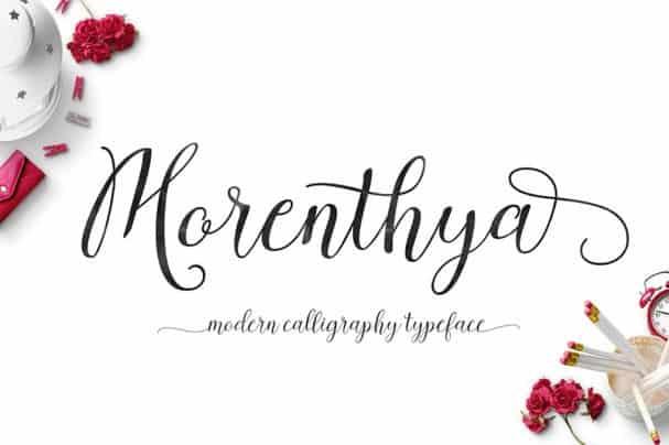 Morenthya Script шрифт скачать бесплатно