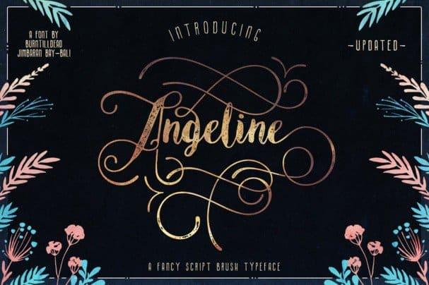 Angeline шрифт скачать бесплатно