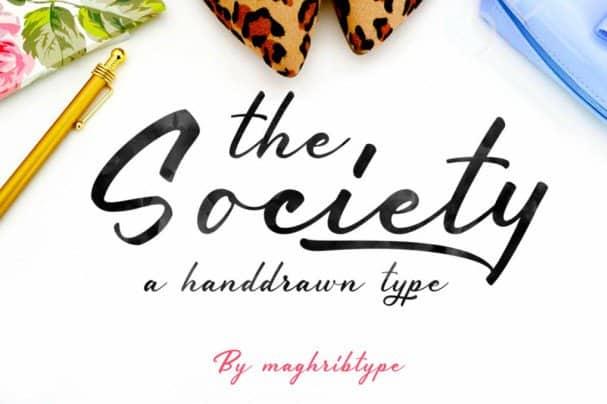 Society шрифт скачать бесплатно