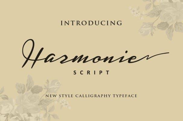 Harmonic шрифт скачать бесплатно