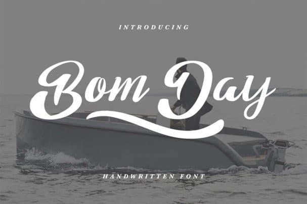 Bom Day шрифт скачать бесплатно