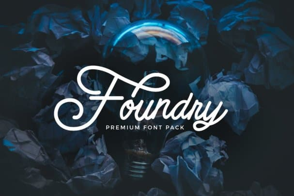 Foundry -   pack шрифт скачать бесплатно