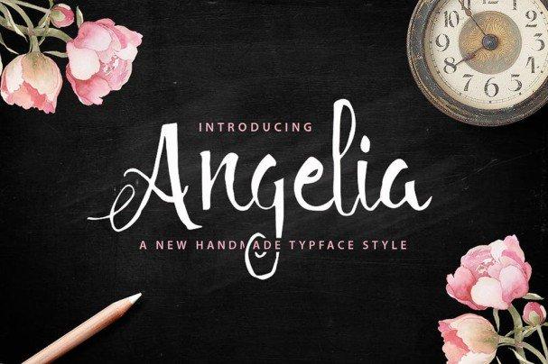 Angelia Script шрифт скачать бесплатно
