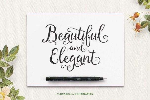 Florabella Script шрифт скачать бесплатно