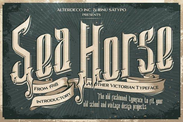 Sea Horse Typeface шрифт скачать бесплатно