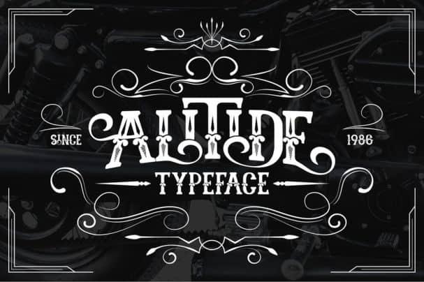 ALITIDE Typeface шрифт скачать бесплатно