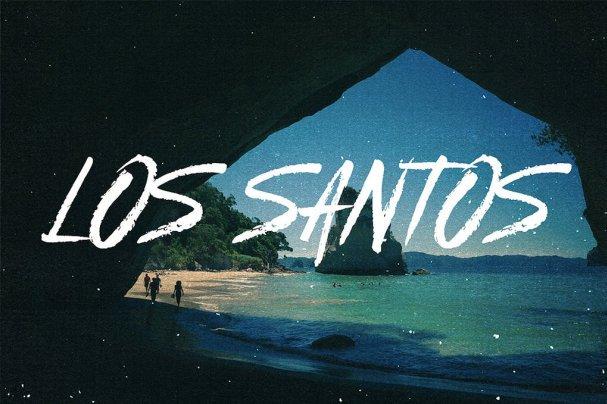 Los Santos - Typeface шрифт скачать бесплатно
