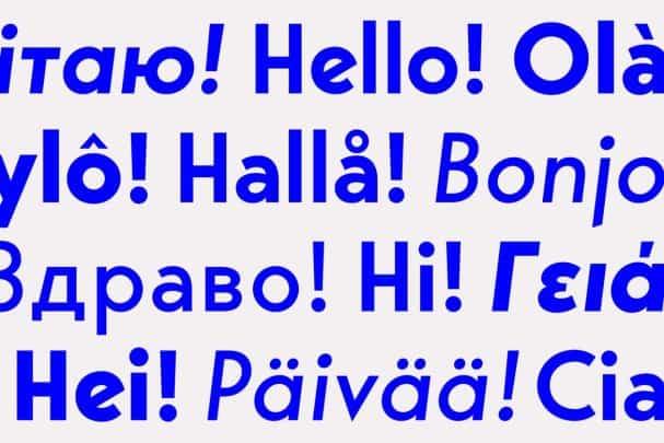 Bergen Sans шрифт скачать бесплатно