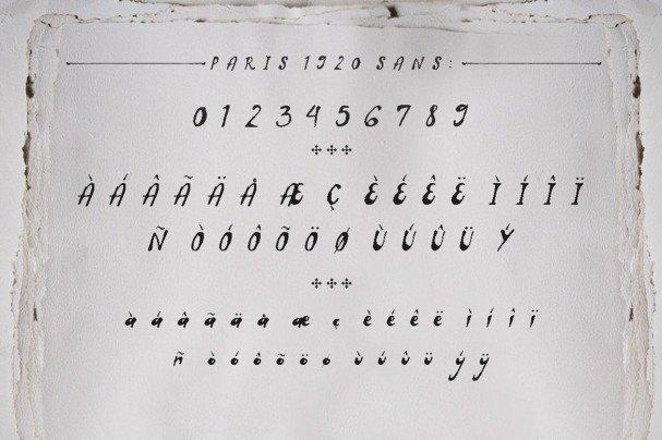 Paris 1920 шрифт скачать бесплатно
