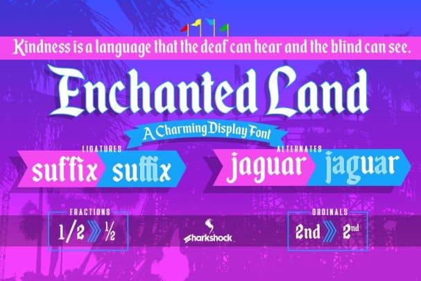 Enchanted Land шрифт скачать бесплатно