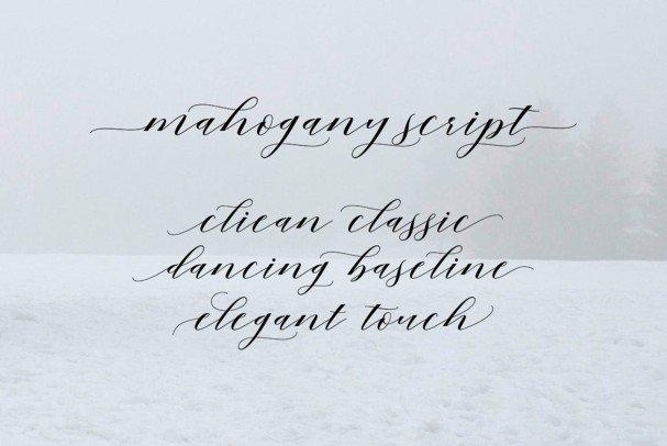 Mahogany Script шрифт скачать бесплатно