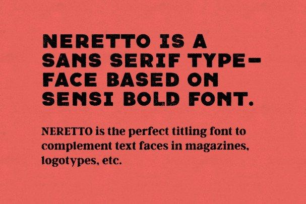 Neretto Sans шрифт скачать бесплатно