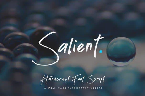 Salient - Handmade Font Script шрифт скачать бесплатно