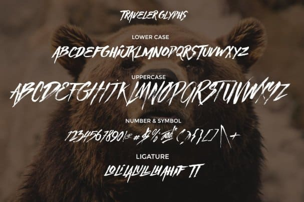 Traveller шрифт скачать бесплатно