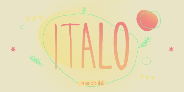 Italo шрифт скачать бесплатно