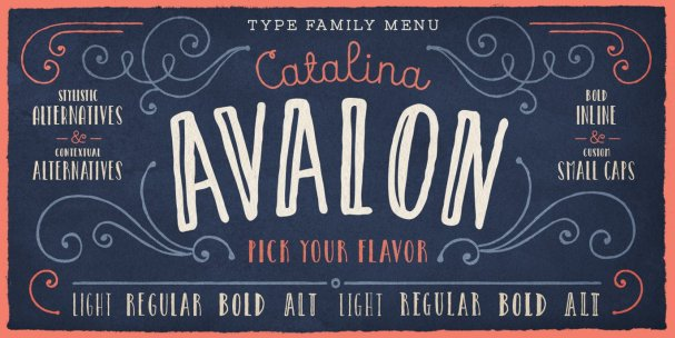 Catalina Avalon шрифт скачать бесплатно