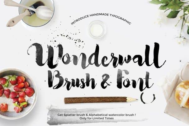 Wonderwall шрифт скачать бесплатно