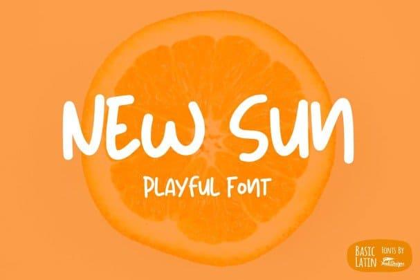 New Sun Playful   шрифт скачать бесплатно