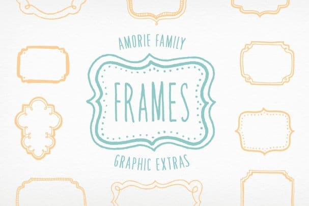 Amorie Font Extras - Frames шрифт скачать бесплатно