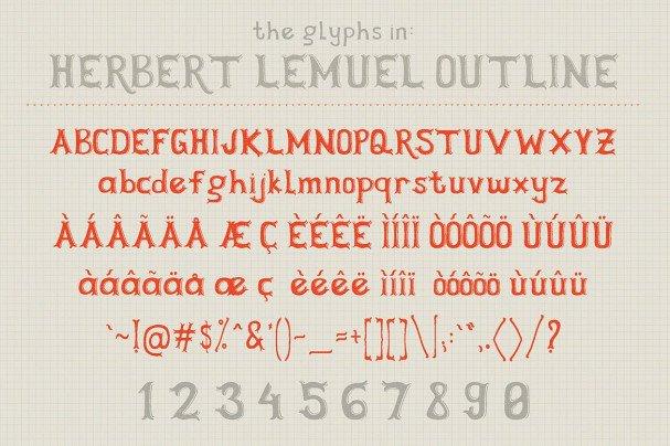 Herbert Lemuel шрифт скачать бесплатно