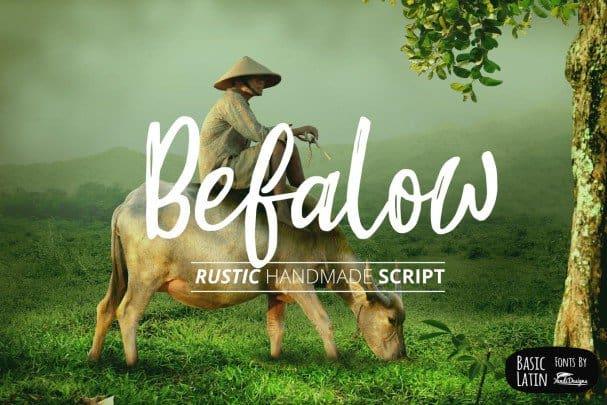 Befalow Rustic   шрифт скачать бесплатно
