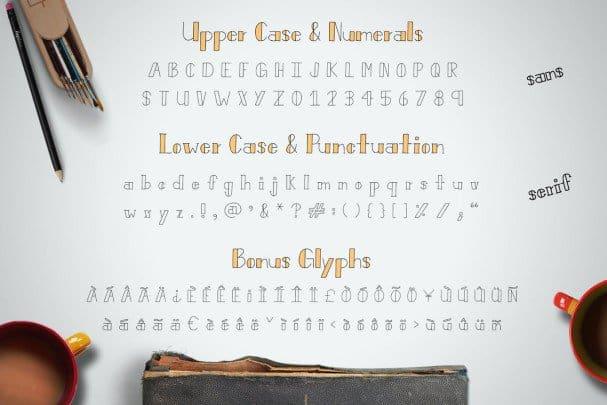 Bistro Font шрифт скачать бесплатно
