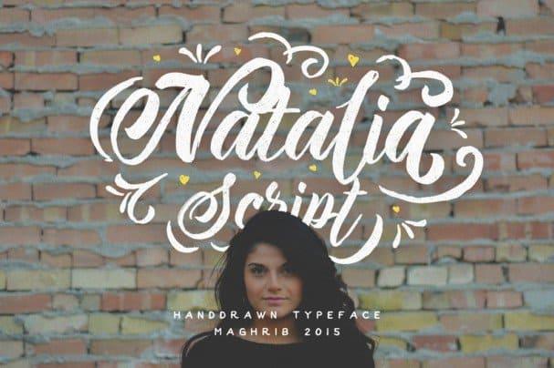 Natalia Script шрифт скачать бесплатно