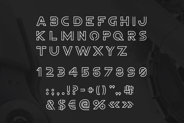 Freeline Font шрифт скачать бесплатно