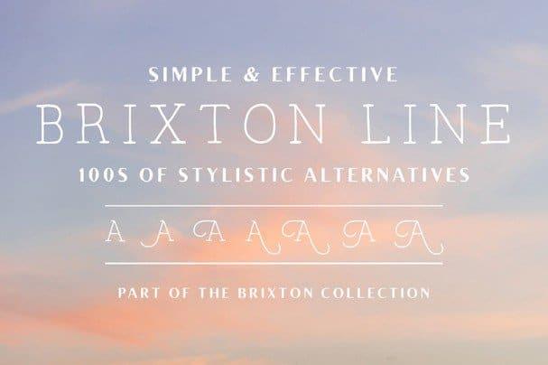 Brixton Line шрифт скачать бесплатно