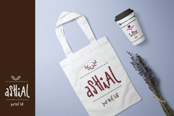 Ashial- Chalky Style шрифт скачать бесплатно