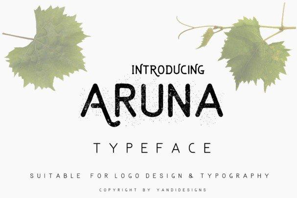 Aruna  s шрифт скачать бесплатно
