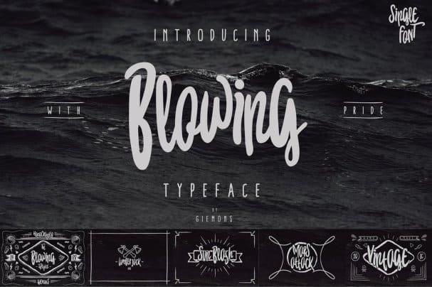 Blowing Typeface шрифт скачать бесплатно