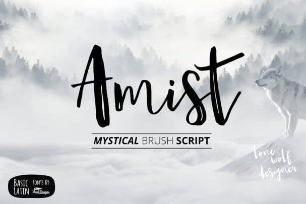 Amist Mystical Script шрифт скачать бесплатно