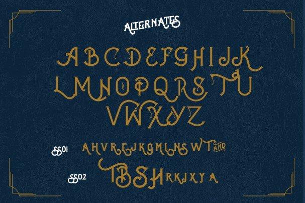 Celestial Vintage type шрифт скачать бесплатно