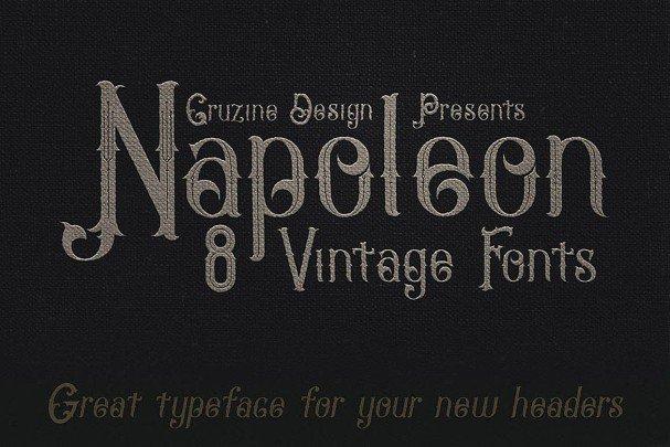 Napoleon Vintage Typeface шрифт скачать бесплатно